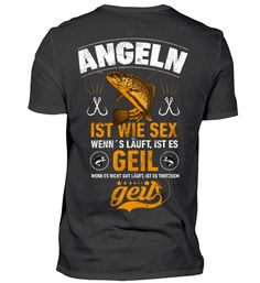 Angelsport Effizient Cooles Angel Fun T-shirt Fisch+bier=herz Bedruckt Angeln Fischen Fishing Herrenmode