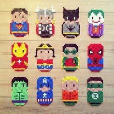 Superhero hama perler beads by fotohajen