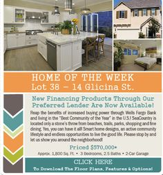 SeaCountry Homes as sold 9 out of 10 New Homes in the latest Phase at Rancho Mission Viejo!  Don't miss the opportunity to call this wonderful neighborhood your new home.  Visit the Home of the Week, Lot 38!  http://www.houseofe-blast.com/CreateABuzz/Lot38July2014.html