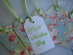 5 Mother's Day Gift Tags Floral Theme by HagansandCompany on Etsy, $1.00