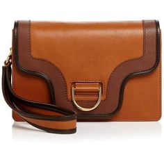 Marc Jacobs Uptown Leather Clutch ($845) ❤ liked on Polyvore featuring bags, handbags, clutches, real leather purses, brown leather handbags, genuine leather handbags, brown handbags and leather clutches