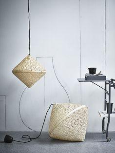 IKEA abat-jour en bambou tressé VIKTIGT