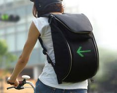seil bag for cyclists signals traffic signs through LED lights