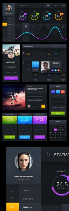 Free Download Dark Sports UI Designs #freebies #freepsdfiles #freepsdmockups #graphicdesign #psdgraphcis #psdtemplates #branding