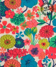 Flowers illustration pattern texture liberty fabric Ideas for 2019 Motifs Textiles, Textile Patterns, Flower Patterns, Print Patterns, Flower Designs, Liberty Art Fabrics, Liberty Print, Liberty Of London Fabric, Pattern Paper