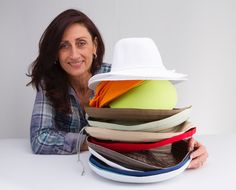 Megan Vass and her selection on Emthunzini hats.