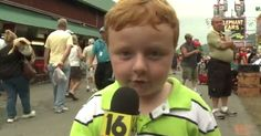 Noah Ritter from Wilkes-Barre, Pennsylvania, stole the show at the Wayne County Fair after being interviewed on live TV for the first time.