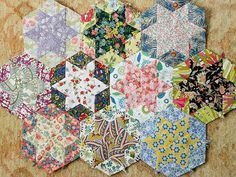 Liberty Star Hexagon Quilt-English Paper Piecing