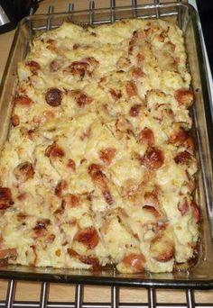 I dag har jeg matlagedag. Er flere ting på gang, første av det var en pølse og bacon grateng. Enkelt og godt. Ingredienser Bacon Pølser (Brukte Wienerpølser) Blomkål Fløte Smør Parmesan Hvitløk (Fersk eller pulver) Kutter opp blomkål ganske fint… Low Carb Keto, Low Carb Recipes, Healthy Recipes, Norwegian Food, Norwegian Recipes, Culinary Arts, Bacon, Macaroni And Cheese, Easy Meals