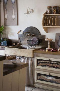 Kuchnia w stylu prowansalskim / Provence - style kitchen design.