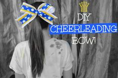 DIY Cheer Bow ♕ I WILL BE MAKING SO MANY Of THESE! So simple and so fab