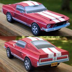1968 Shelby Mustang Paper Model | Tektonten Papercraft