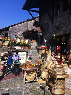 Yvoire France Yvoire, Beaux Villages, France, Store Fronts, Switzerland, Places To Go, Portugal, Restaurants, Beautiful Places