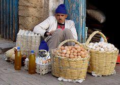 Eggs seller Essouira Morocco