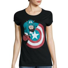 Short-Sleeve Marvel Avengers Graphic T-Shirt (6.380 HUF) ❤ liked on Polyvore featuring tops, t-shirts, graphic print t shirts, short sleeve crew neck tee, crewneck t-shirt, short sleeve tops and graphic design tees