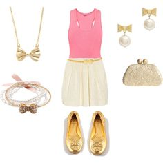Pink and Gold, created by sandratorres on Polyvore