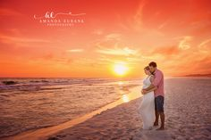 Beach Maternity Photographer, Santa Rosa Beach and Destin Florida, Outdoor Maternity Photos, Sunset Beach Maternity, Amanda Eubank Photography