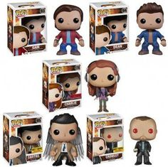 Yes please! Supernatural funko pop. Sam, Dean, Charlie, Castiel, and Crowley