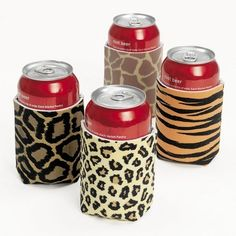 Safari Party Thermal Can Covers (12 ct)