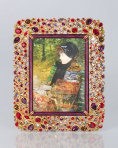 """H7AT9 Jay Strongwater Javier Bejeweled 5"""" x 7"""" Frame"""