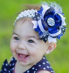 Police Officer Hair Bow My Daddy is a by VioletsVelvetBox on Etsy, $8.99