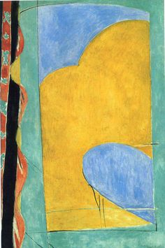 Henri Matisse, The Yellow Curtain, 1915, Oil on canvas Dimensions	146 cm × 97 cm (57 1⁄2 in × 38 1⁄8 in) Location	Museum of Modern Art, New York