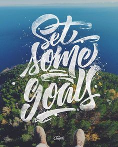 It's already February you got your goals set for 2016? Type by @champolatype | #typegang if you would like to be featured | typegang.com by type.gang