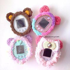 Tamagotchi crochet cover by momomigurumi on Etsy