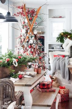 Cozy Ski Lodge Inspired Christmas Tour - The Lilypad Cottage