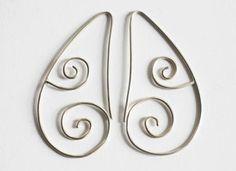 Jane Vile : Earrings - Double Koru