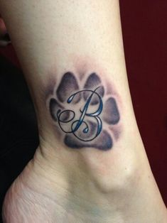 Paw with curvy B letter