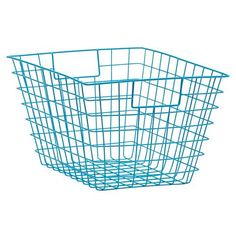 Wire Storage Basket - Aqua | Kmart For under the sink storing cleaning products.