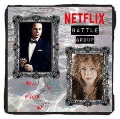 """Netflix Battle Group"" by rainbowfashionunicorn ❤ liked on Polyvore featuring art"