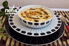 Nohutlu Yarmalı Yoğurt Çorbası Tarifi Turkish Recipes, Ethnic Recipes, Yogurt, Tiramisu, Panna Cotta, Food And Drink, Pudding, Breakfast, Desserts