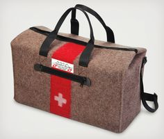 The Genuine Swiss Army Blanket Duffel | Cool Material_ I have the blanket itself, would actually love to get this for a very special man.