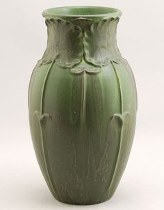 Retired Lotus Vase in Dark Sage by Door Pottery  by DoorPottery, $248.00