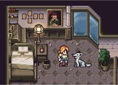 Haunting Ground by AlbertoV on DeviantArt Voxel Games, Pixel Art Games, Alley Cat, Rpg Maker, Game Assets, Video Game Art, Game Design, Art Tutorials, Art Images