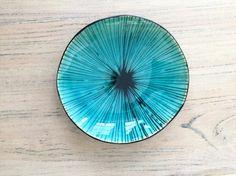 Turkoois Decorativ keramische Bowl handgemaakte Bowl