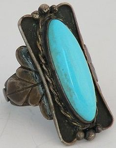 Old-Native-American-Navajo-fine-Sleeping-Beauty-Turquoise-Sterling-silver-ring
