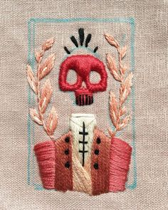 Memento mori - Embroidery Memento mori - Embroidery History of Knitting String spinning, weaving and sewing careers such as for instance BC. Embroidery Fashion, Embroidery Art, Cross Stitch Embroidery, Embroidery Patterns, Machine Embroidery, Simple Embroidery, Geometric Embroidery, Little Presents, Cross Stitching
