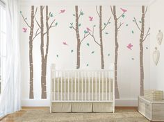 Tree with birds Wall Decal. Wall Sticker. Vinil by decoryourwall