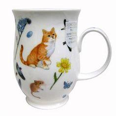 Dunoon Suffolk Garden Cats Mug - Orange