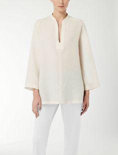 Max Mara PICCHIO beige: Camicia in lino.