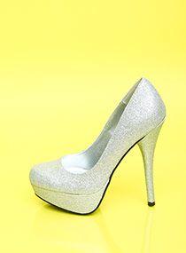 Glitter Heel Pumps $22