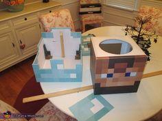 Minecraft Diamond Armor Steve - Halloween Costume Contest via @costume_works