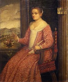 Looks like the wide open front was very fashionable at a certain point. - Anonymous Venetian Portrait of a Lady