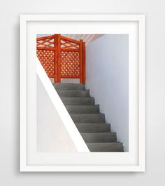 Red door photo wall art geometric art Cyclades Naxos by Ikonolexi