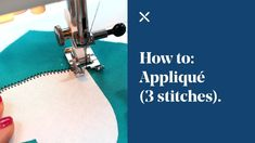 appliqué a motif (letter or shape) onto a garment or project you are making. What better way to personalise bunting, bags or clothing. In this tutorial we will show Applique Stitches, Embroidery Stitches Tutorial, Hand Applique, Raw Edge Applique, Machine Applique, Quilting Tutorials, Applique Designs, Cushion Embroidery, Diy Embroidery