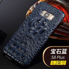 4 Colors New Natural Crocodile Head Skin Cover for Samsung Galaxy S8 Plus Genuine Crocodile Leather Phone Case For Samsung S8