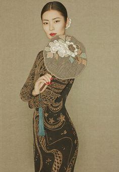 Model Liu Wen rocks the classical look in her recent photo shoot for Harper's Bazaar. Photographer Sun Jun.
